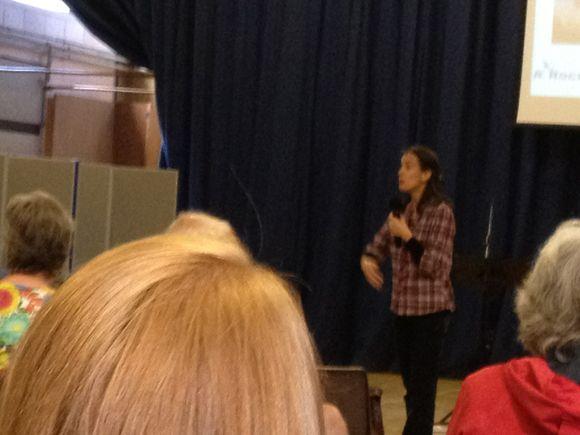 Ruth Valerio visits us ...